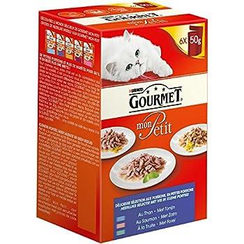Gourmet Mon Petit Repas pour chat adulte Poissons 6 x 50 g - Lot de 8 (48 sachets fraîcheurs)