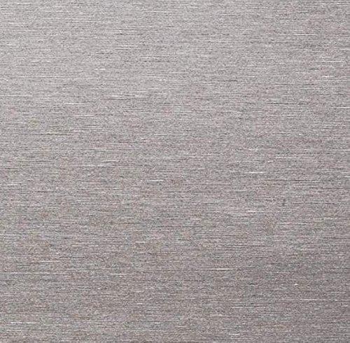 AS4HOME Klebefolie - Möbelfolie Edelstahl Optik - Stahl gebürstet - 67.5 cm x 150 cm - Edelstahl Folie