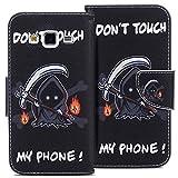 Samsung J3 (2016) Hülle, SpiritSun PU Leder Wallet Schutzhülle für Samsung Galaxy J3 (2016) Bookstyle Design Ledertasche Case Tasche mit Standfunktion und Kredit Kartenfächer - Don't Touch My Phone
