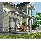 Hochwertige Aluminium Terrassenüberdachung, Terrassendach 300x546 cm (TxB) - grau