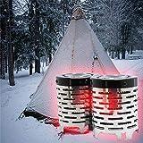 wonderfulwu Cubierta de Calentamiento para Tienda de campaña, Calentador de Mini Estufa de calefacción de Viaje para Exteriores con Infrarrojos