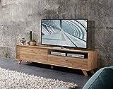 Lowboard, TV-Lowboard, Fermsehtisch, Kommode, Sideboard, Schrank, Eiche, Navarra, steingrau, modern, Retro, TV-Board, Unterschrank, TV-Bank