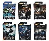 Hot Wheels Batman Komplett 6er Set Druckguss Autos - Batmobiles, Fledermaus-pod usw.