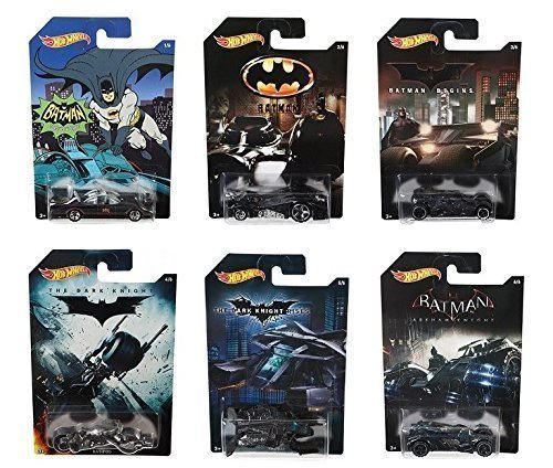 Hot Wheels Batman Completo Set de 6 De metal Cars - Batmobiles, Bat-pod etc