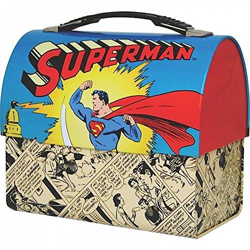 Preisvergleich Produktbild DC Comics - Superman - Blechkoffer Brotdose Lunchbox - Comic Stripes