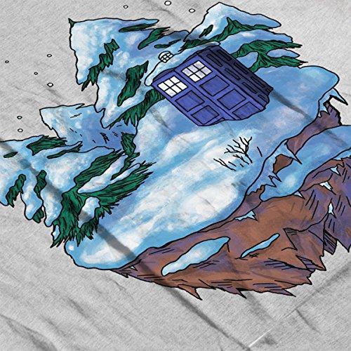 Tardis On A Floating Winter Island Doctor Who Men's Vest Heather Grey