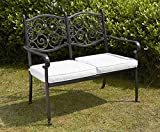 Royalcraft Versailles 2 Seater Cast aluminium Bench including cushions