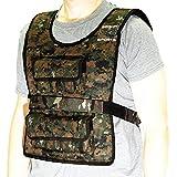 Seismic Sport–ss40vbk–verstellbare Gewichtsweste 40lb Camouflage für Crossfit, hiit, Kraft, Cross-Training- und Cardio Training