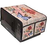 TIB® Digital Printed Peacock Microwave Oven Top Cover for 20 Litre. (14 * 34 inches) (Beige)