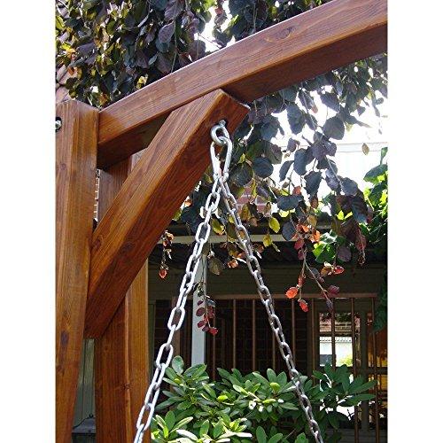 Beauty.Scouts Gartenschaukel Hollywoodschaukel Massivum Lärchenholz lackiert modern Designer Holzschaukel Schaukelbank Gartenliege 208x100x196cm