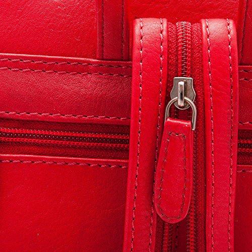 Zerimar Zaino Donna | Borse a mano da donna | 100% pelle alta qualità | Borsa della Signora | Borsa a mano | Borsa Grande | Borsa Piccola | Stile Casual | Misure: 26 x 25 x 8 cms Rosso