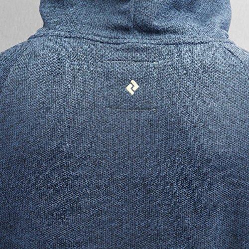 Hooded GOOT DenimBlueMelange Blau