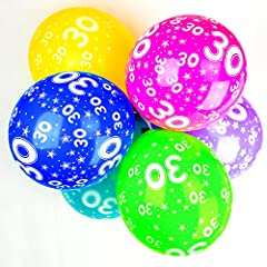 Idea Regalo - Happium - Palloncini di Lattice per Numero 30, Decorazione di 10