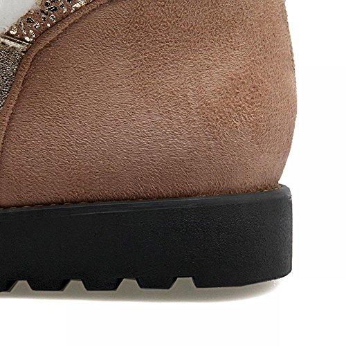 Mee Shoes Damen runde Nubukleder kurzschaft Schneestiefel Gelb