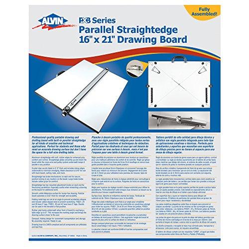 Alvin tragbar Parallel-Zeichenschiene Board 40,6x 53,3cm (PXB21) - Alvin Board