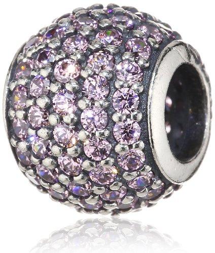 Pandora Damen-Charm 925 Sterling Silber Zirkonia rosa 791051PCZ