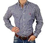 POLO RALPH LAUREN - Herren Hemd blau kariert | rot Reiter | Slim Fit (L)