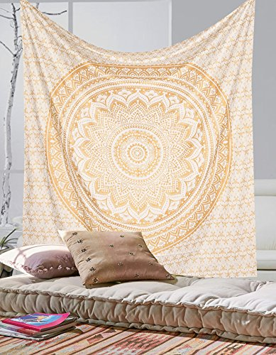 exclusive-gold-ombre-mandala-tapestry-by-labhanshi-boho-wall-tapestries-queen-wall-hanging