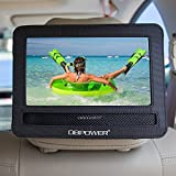DBPOWER 10/10.5 Car Headrest Moust Holder Strap Case for Swivel & Flip Style Portable DVD Player (10-10.5)