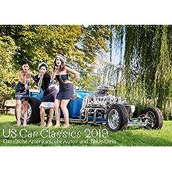 US Car Classics 2019 - Klassische amerikanische Autos und PinUp Girls (Wandkalender 2019 DIN A2 quer): Klassische US Oldtimer zusammen mit Pin up Models (Monatskalender, 14 Seiten )