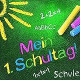 20 Servietten Farbige Schultafel / Schule / Schulanfang / Einschulung 33x33cm