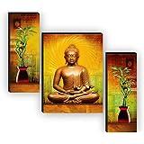 1ArtofCreation Engineered Wood Religion, Flowers Painting, Multicolour, UV textured, 18 Inch X 12 Inch