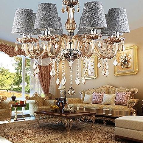 Lustre En Cristal Etoffe Abat-jour Style Moderne ( Ne Pas Inclure La Source De Lumière ) 8 Lampe Titulaire Argent Par Aiwen