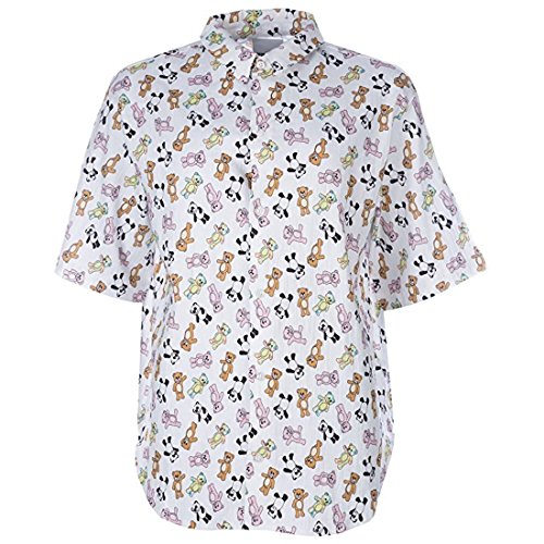 adidas Original von Jeremy Scott Obyo JS Bär Button-Down-Shirt (XL)