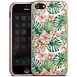 Apple iPhone 5s Silikon Hülle Case Schutzhülle Palmenblätter Muster Blüten
