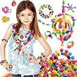 #3: SLYTEK Jewellery Making DIY Kid Pop String Beads Toy Fashion Girls Accessories Toy Set of 183 Pcs