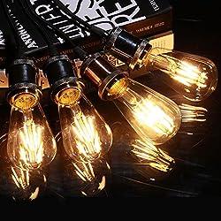 4 Pack Bombilla LED E27, AVAWAY 4W Vintage Bombilla Edison, Equivalente a 40W Incandescente, Blanco Cálido 2700K, E27 Base para Restaurante, Hogar, Sala de Lectura, Oficina - LED Fuente de Luz