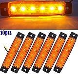 symboat 10PCS 12V SMD LED luci laterali eclairage6LED Fuoco di posizione marcatore posteriore Camion Rimorchio rimorchio Side Marker Light
