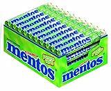 Mentos Grüner Apfel Dragees, 40 Rollen Bonbons, Apfel-Geschmack süß-sauer, Multipack Kaubonbons