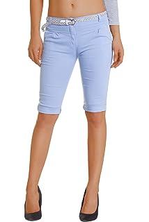 a88c6a075913 Fraternel Damen Hose Stoffhose Shorts Bermuda Capri knielang: Amazon ...
