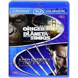 El Origen Del Planeta De Los Simios + X-Men Origenes: Lobezno [Blu-ray]