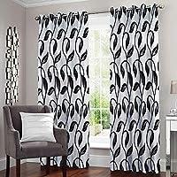 Story at Home Door Curtain, Black, 118cm X 215cm, Dnr4021, 2Pcs