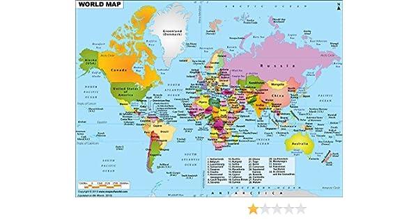 Buy World Political Map Vinyl Print 48 W X 35 40 H Book Online