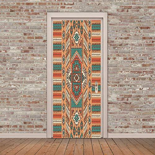 Adesivo murale 3d adesivo murale per tappeti indiano (77x200 cm) adesivi per la decorazione domestica decalcomanie smontabili in vinile