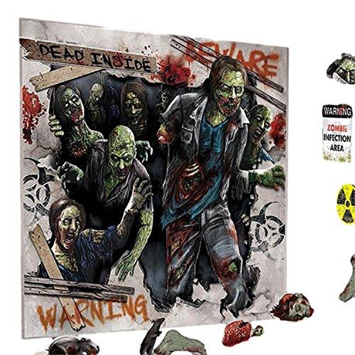 Fancy Me Große 32 Stück tot Zombie gruselig gruselig Scary Halloween Party Szene Setter Selfie Station Dekorieren Kit