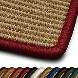 casa pura Sisal Läufer/Teppich myStyle   Kettelung in Wunschfarbe   Naturfaser   Viele Größen zur Auswahl (Kettelung Rot, 80x150 cm)
