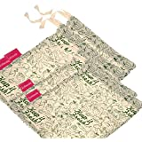 Golisoda Gsvb006 Reusable Veggie Bags (Green, 31.5X26X1Cm, Cotton) - Set Of 4