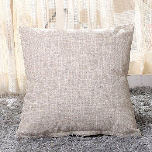 2Create quadratische 45× 45cm Baumwolle Dick Leinen Kissenbezüge Kissenbezug, Retro Sofa Home Decor Design Deko Geschenk Kissenbezüge (Kaffee) beige -