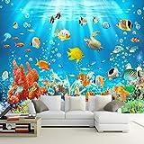 Ohcde Dheark 3D-Kids Wallpaper Wandbild Unterwasserwelt Fische Und Korallen Foto Wall Paper Kinder Zimmer Hintergrund Wa