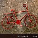 QBZS-YJ Vintage Schmiedeeisen Fahrrad Wandbehänge Kreative Regal Home-Dekoriert Balkon Wandbehänge (Farbe : Rot)