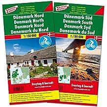 Freytag Berndt Autokarten, Dänemark Nord und Süd, Set, Top 10 Tips - Maßstab 1:150.000 (freytag & berndt Auto + Freizeitkarten)