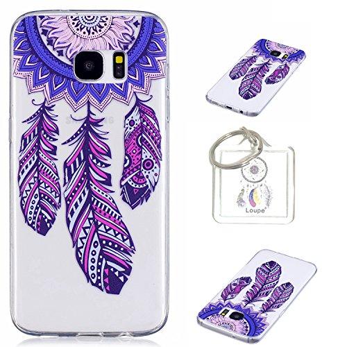 Coque Galaxy S7 (5,1 pouces) Housse de protection en TPU Coque de protection en silicone, Cartoon jolie peinture Transparent TPU Bumper Housse Case Cover Étui pour Galaxy S7 (5,1 \