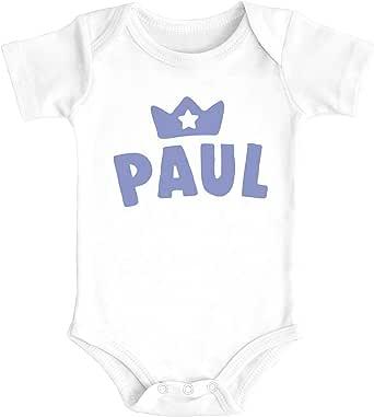 SpecialMe/® Baby T-Shirt mit Namen personalisiert Krone Junge M/ädchen Geschenk Kleinkind Kurzarm Bio-Baumwolle