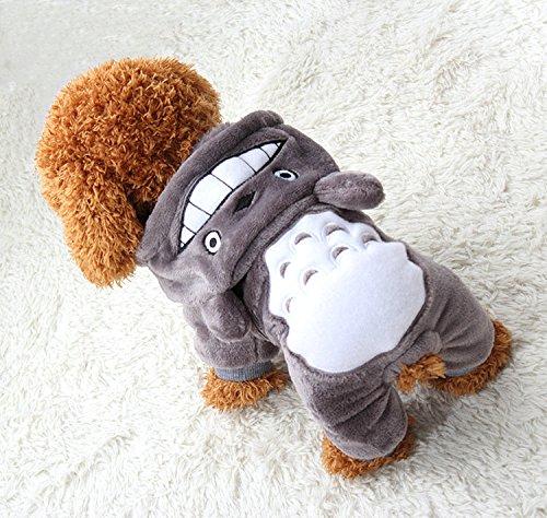 PAWZ Road Halloween Verkleidung Cosplay Kostüme Allerheiligen Weihnachten Pullover Pulli Weste Hoodie Wintermantel für Hund und Katze Grau M - 3
