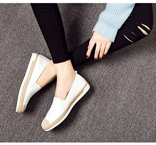 Chaussures plates en cuir/Chaussures de loisirs paresseux B