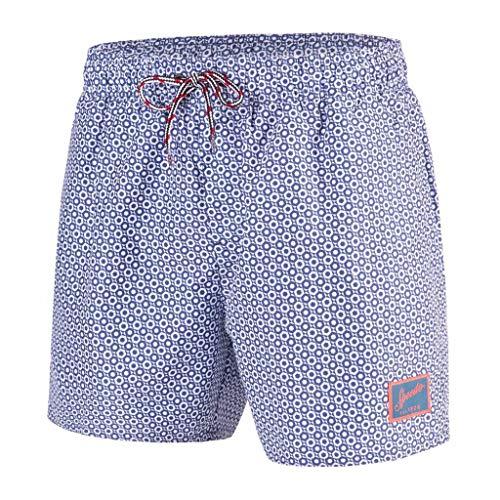 Speedo Herren Vintage mit Aufdruck 14 Zoll Bade-Shorts, Elementfix Coastal Fjord/Weiss, S